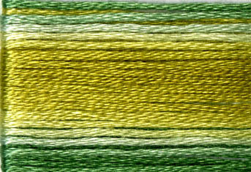 8019 Greens Variegated Floss