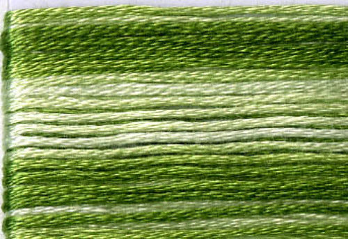 8021 Greens Variegated Floss