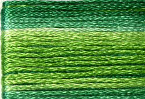 8022 Greens Variegated Floss