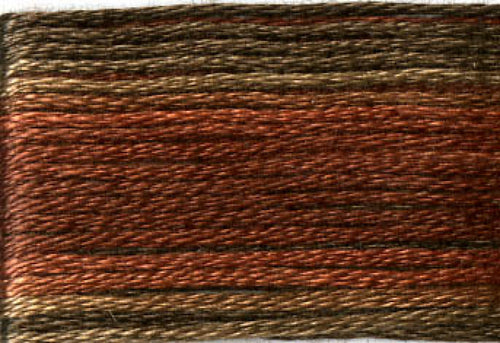 8041 Browns Rusts Variegated Floss