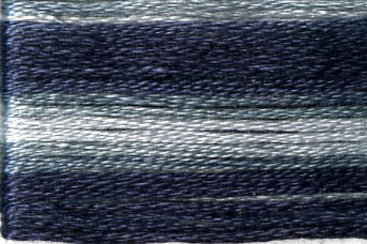 8070 Black Grey Variegated Floss