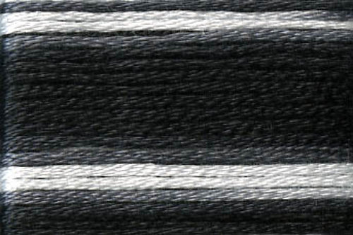 8072 Black Grey White Variegated Floss