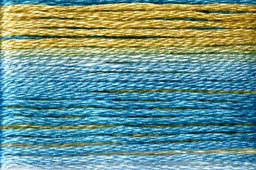 8076 Blues Tan Variegated Floss