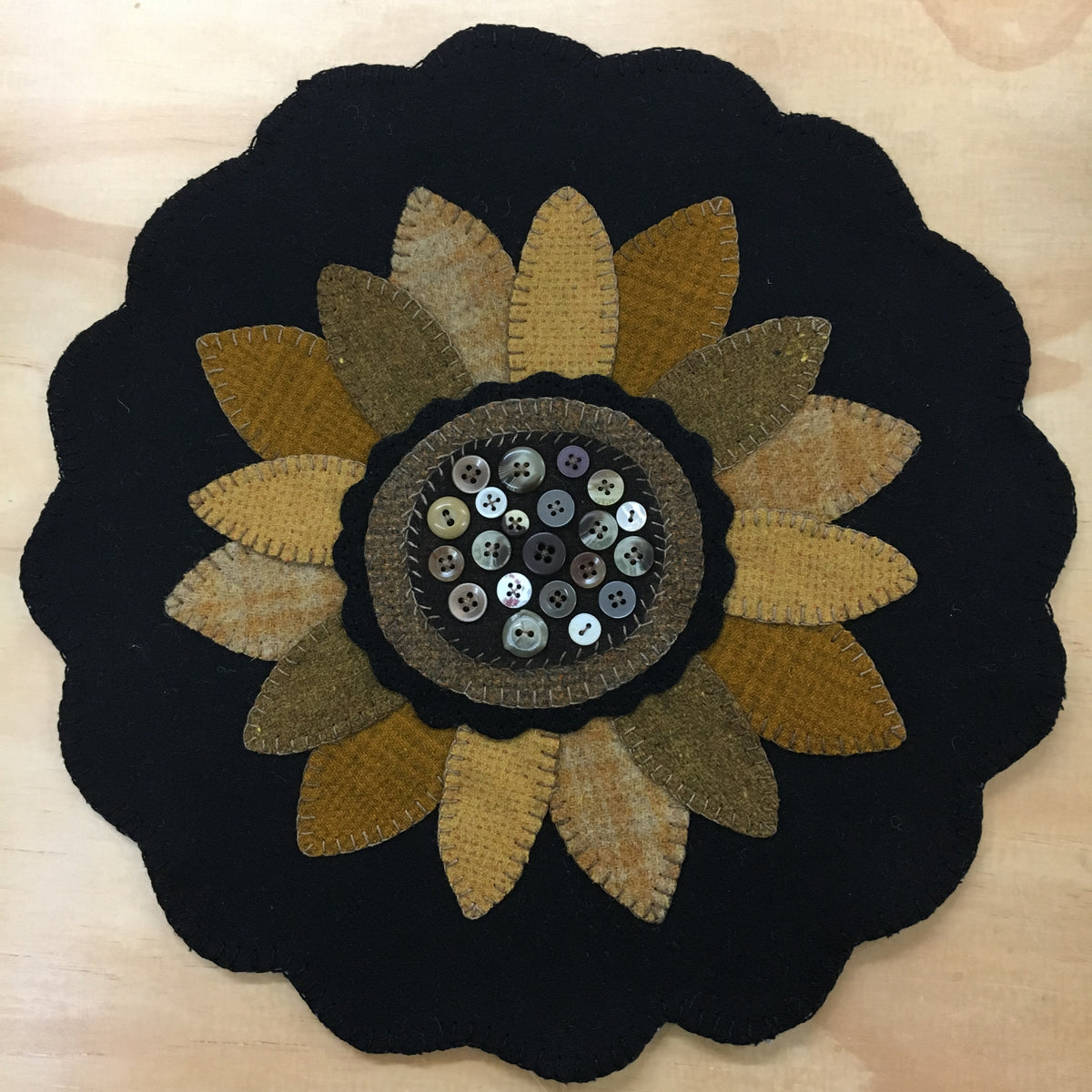Buttermilk Basin's Woolen Sunflower Mat