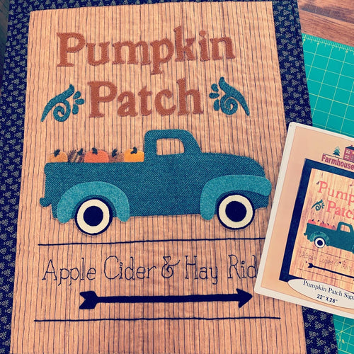 Pumpkin Patch Sign Wool Kit - Pattern by Farmhouse Threads