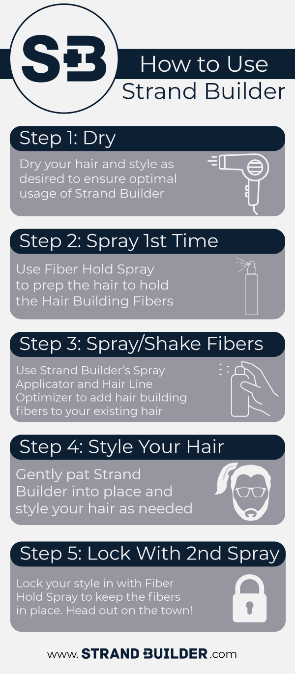 how to use hair building fibers
