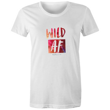 Load image into Gallery viewer, Watercolour Wild AF T Shirt