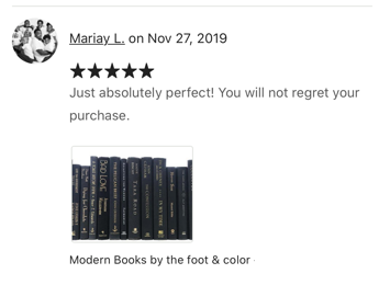 books by the color and foot customer review sold by the book bundler
