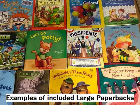 Children's illustrated paperbacks and cheap mixed books boxes
