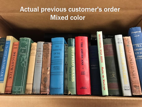 vintage books by color