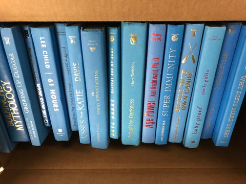 modern sky light blue books for decor sold by the book bundler