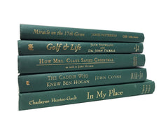 decorative modern green books by the foot and color sold by the book bundler