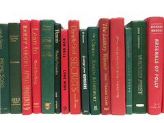 modern decorative christmas red and green books by the foot and color sold by the book bundler