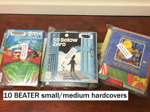 10 BEATER small and medium hardcovers sold by the book bundler