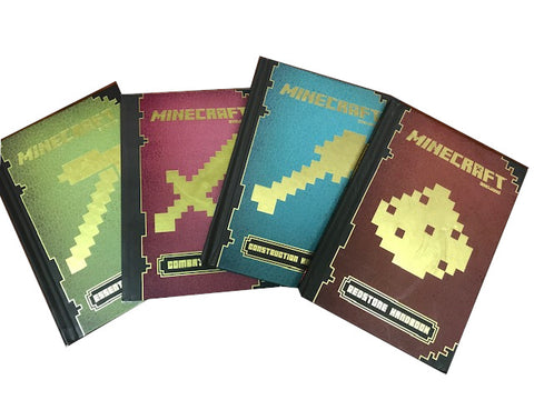 Minecraft Complete 4 book set essential handbooks