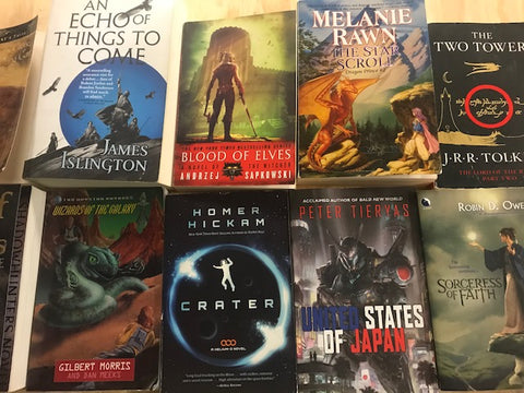 science fiction and fantasy trade paperback books sold by the book bundler