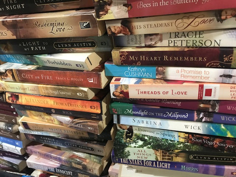 christian fiction romance paperback books sold by the book bundler