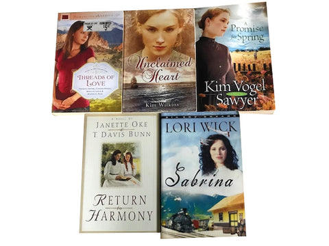 christian fiction romance trade paperback books sold by the book bundler