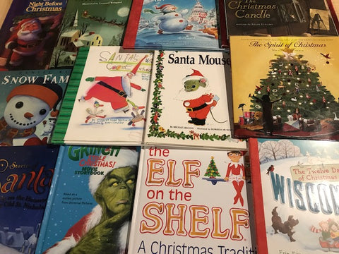 large illustrated hardcover christmas books