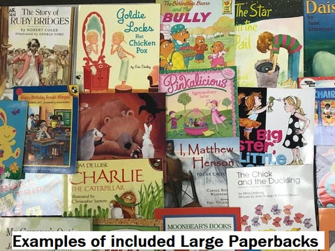 illustrated children's books, books in a box selling at huge discounts