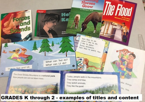 Pearson Mcgraw-Hill leveled readers for kindergarten through second grade