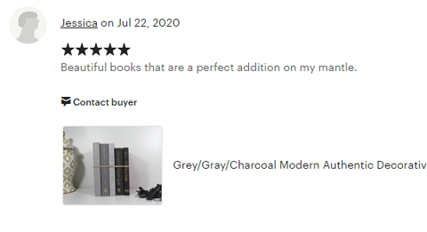 books by color & foot customer review sold by the book bundler