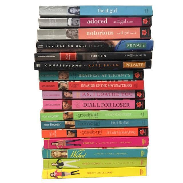 TheBookBundler Bulk Books 10 Young Adult Chapter Books / Premium Used Sassy Teen Girl YA Young Adult Books