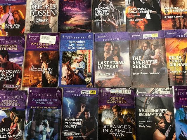 TheBookBundler Bulk Books 5 books / Premium Used Harlequin Romance Intrigue & Suspense Books