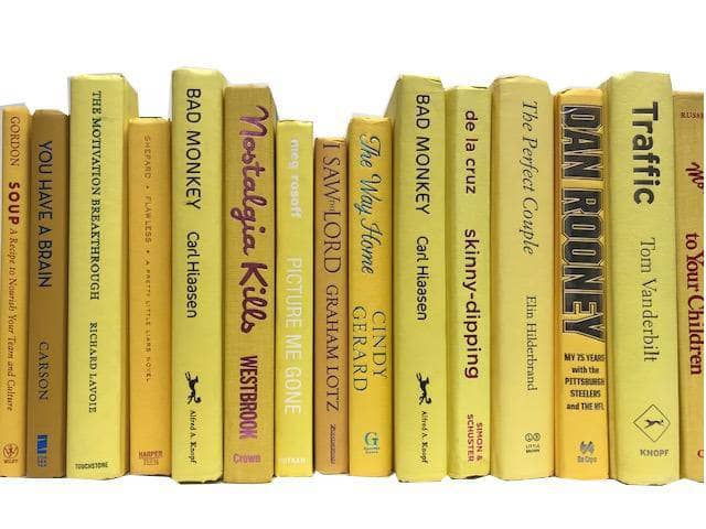 TheBookBundler Hidden 1 Foot (10-12 books) Modern Yellow Books by the Foot & Color