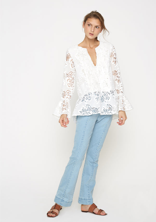 Bloom Top Ivory Front