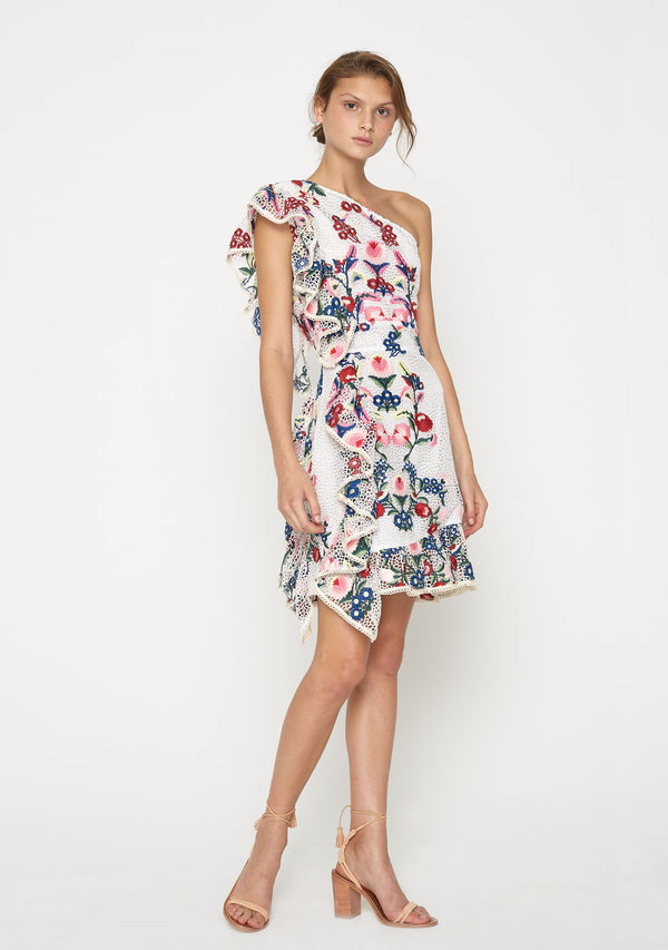 Melody One Shoulder Dress Floral Side