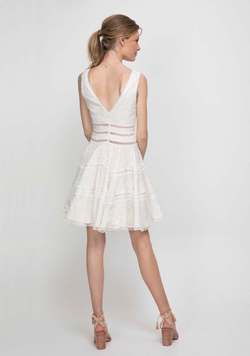 Ethereal Dress Ivory Back