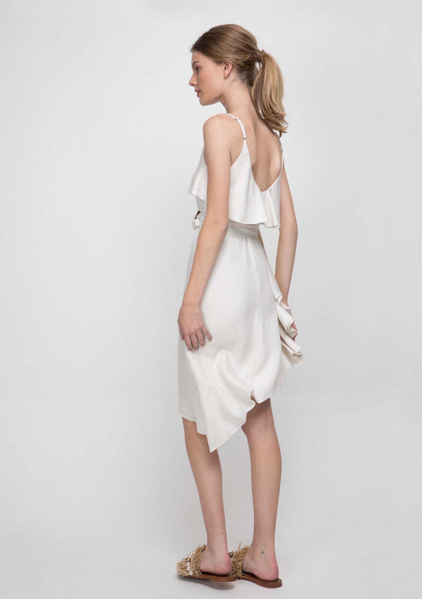 Sahara Dress Ivory Side