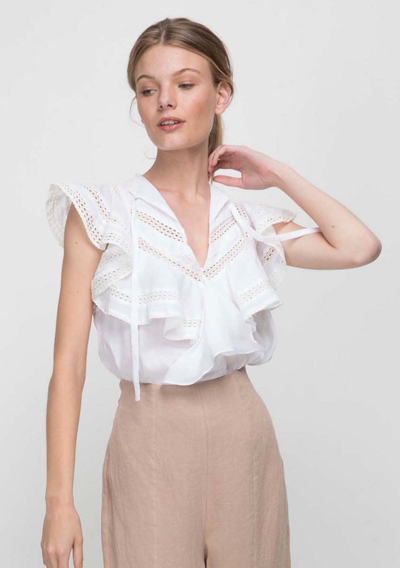 Angelica Top Ivory Front
