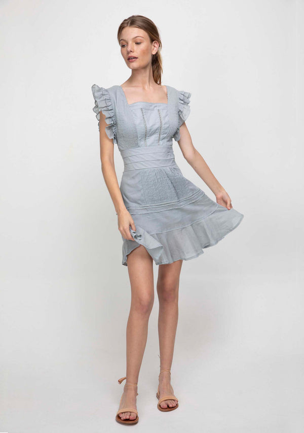 Angelica Dress Silver Blue Front