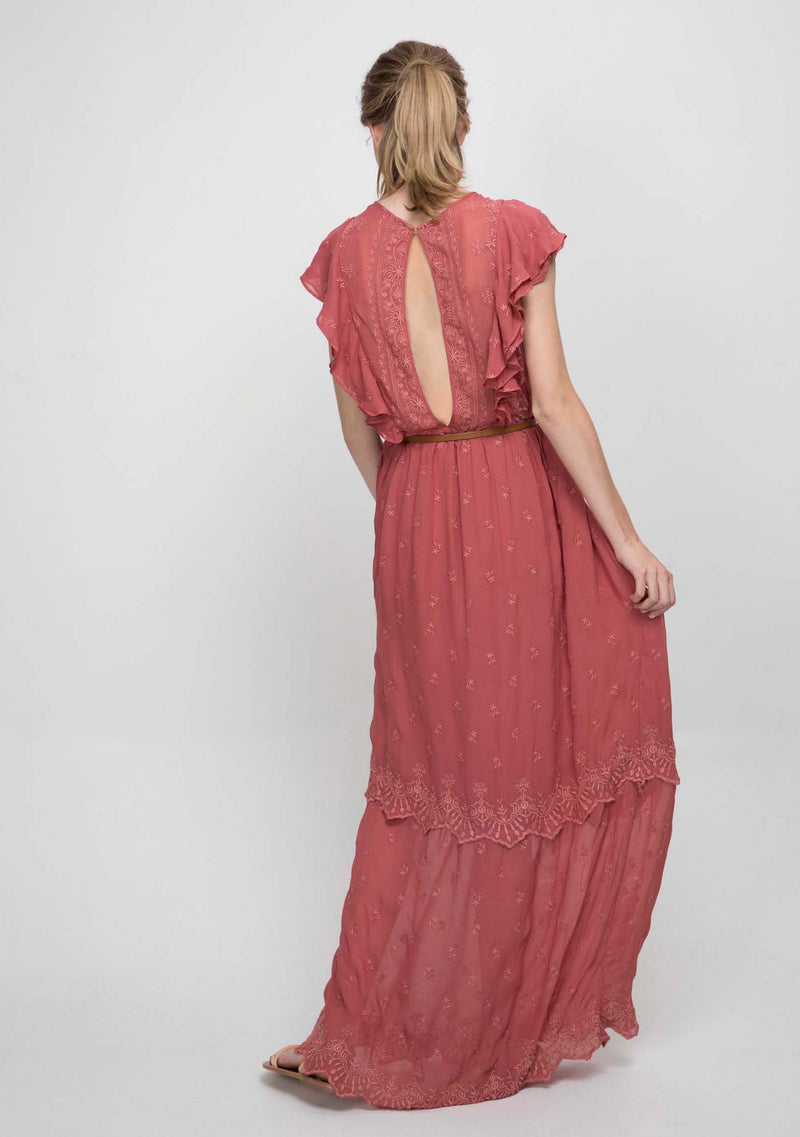 Marbella Maxi Dress Summer Fig Back