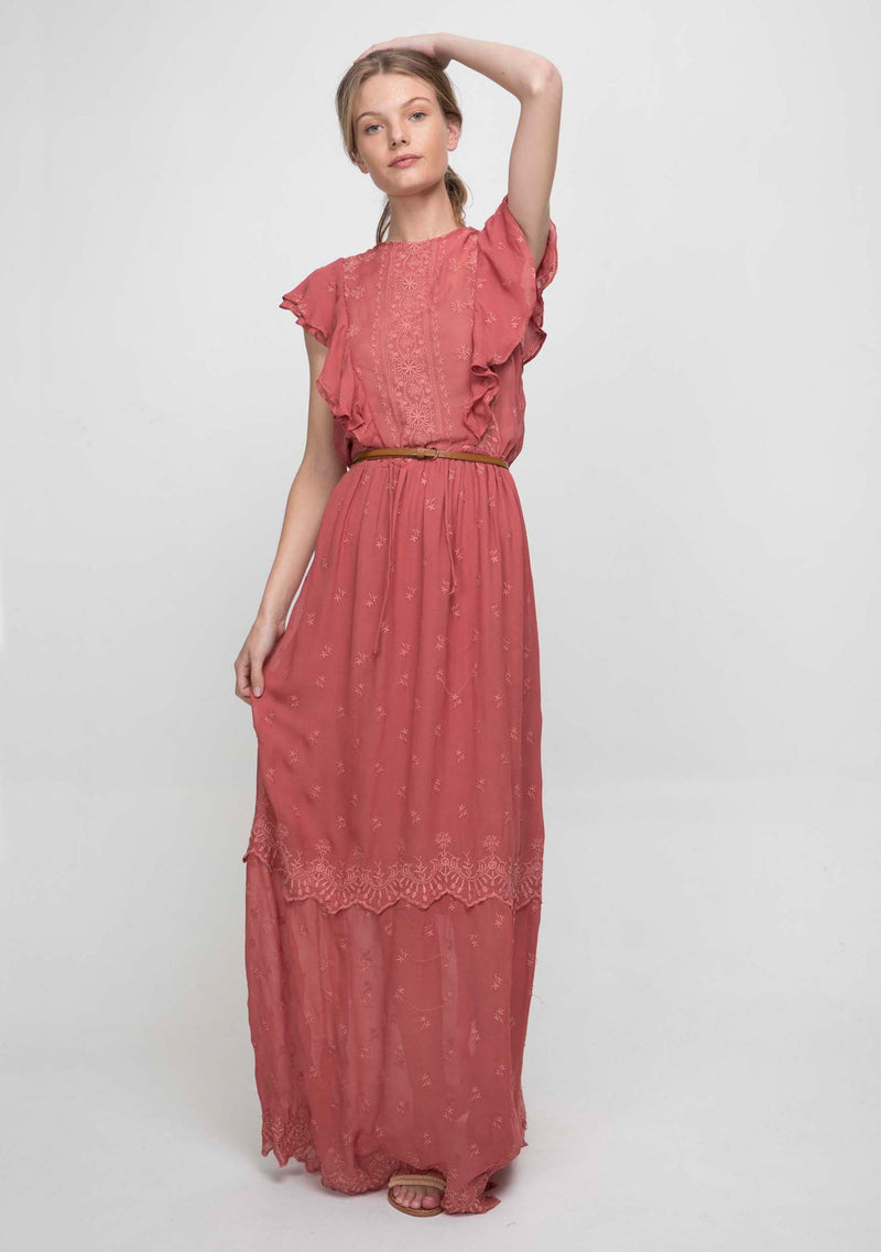 Marbella Maxi Dress Summer Fig Front