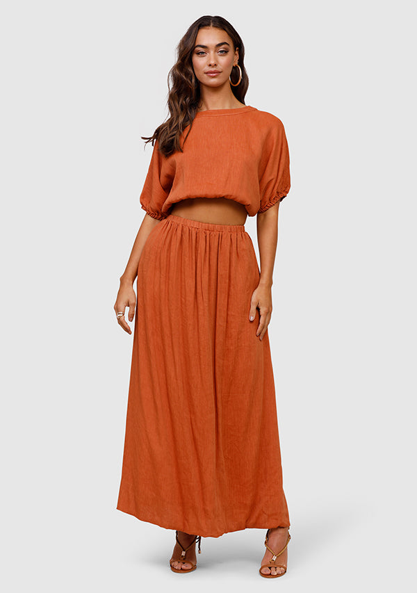 Wanderess Slit Maxi Skirt