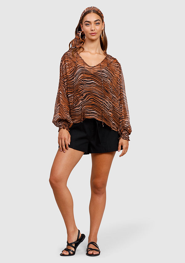 Tigress Smocked Blouse