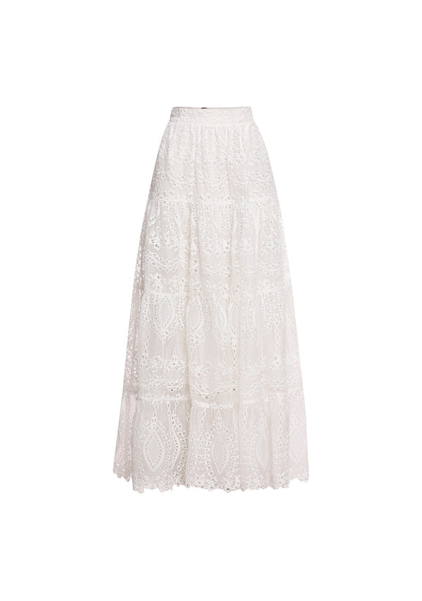 Splendour Embroidery Maxi Skirt