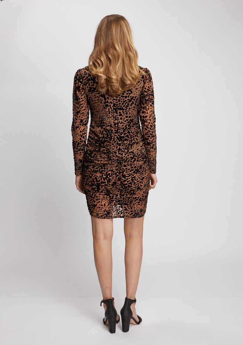 Camille Dress Leopard Back