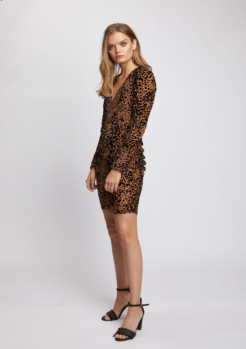 Camille Dress Leopard Side