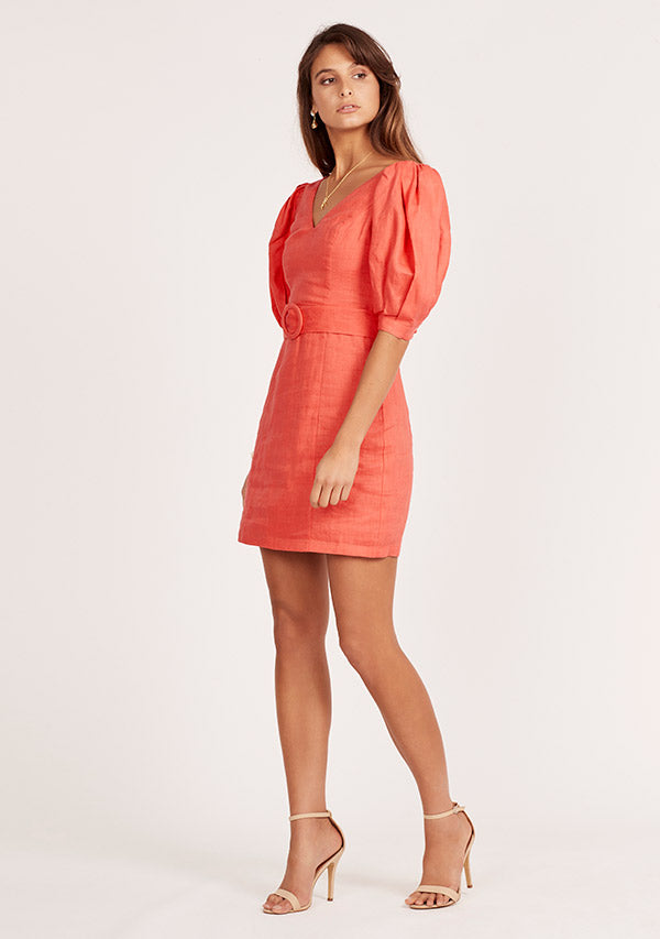 Celia Puff Sleeve Dress Ministry Of Style