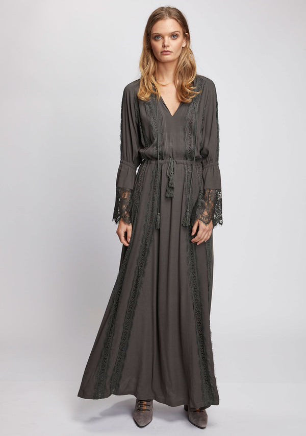Ebony Maxi Dress Olive Front