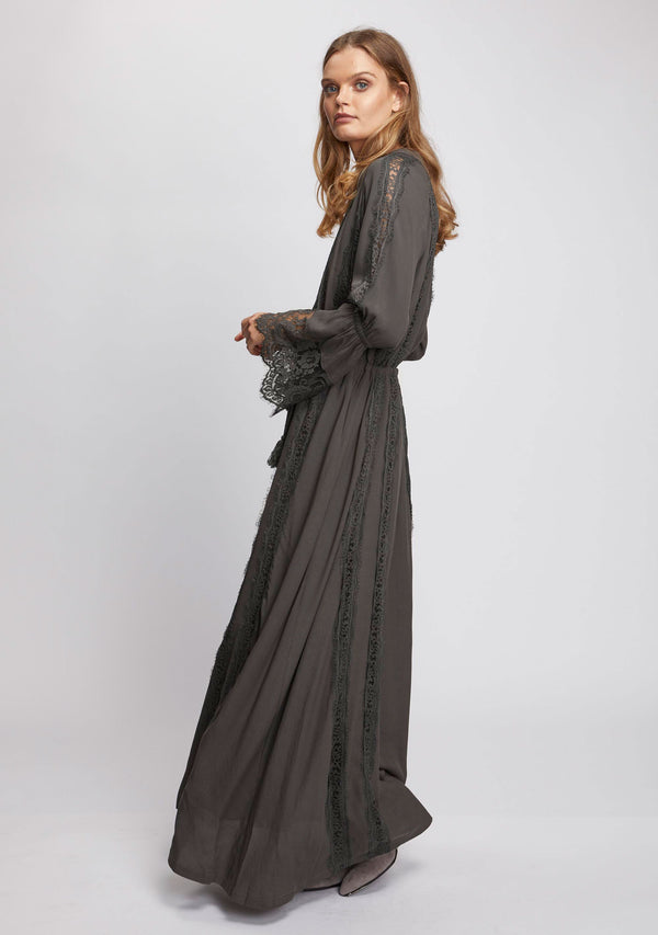 Ebony Maxi Dress Olive Side