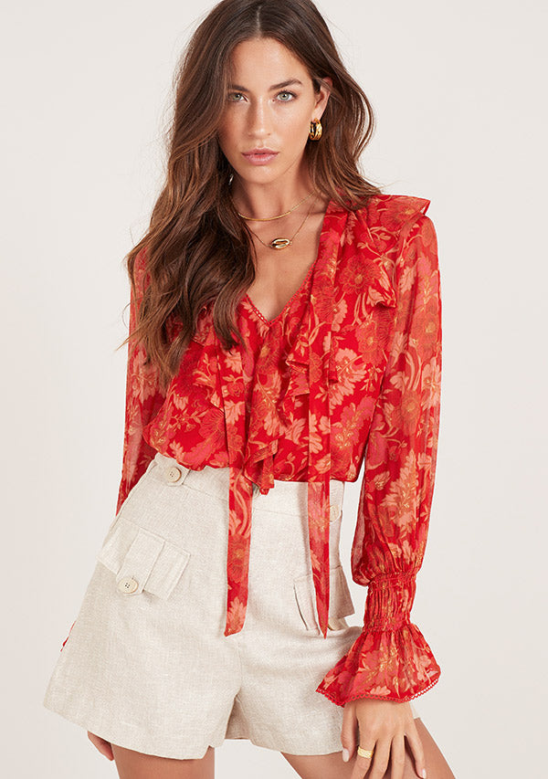 hibiscus blouse ministry of style