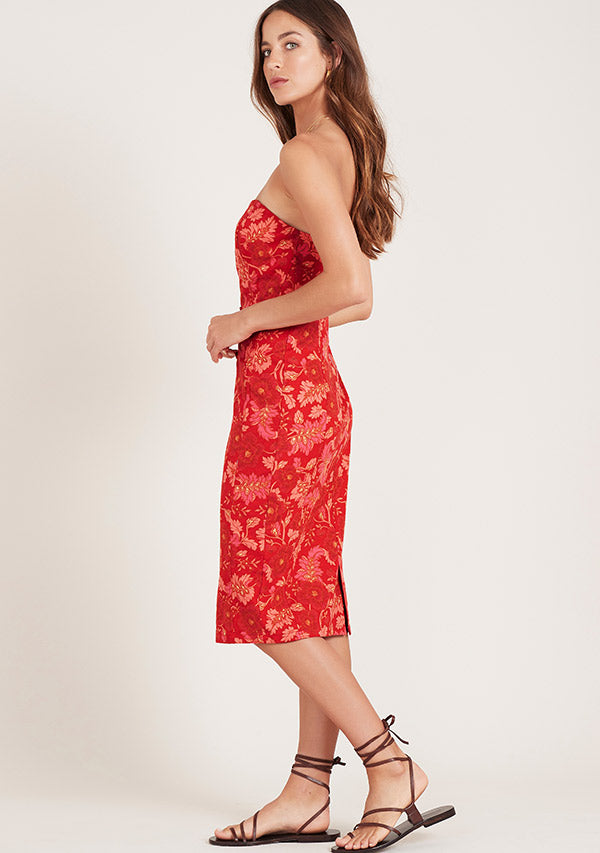 Hibiscus Strapless Dress Ministry Of Style