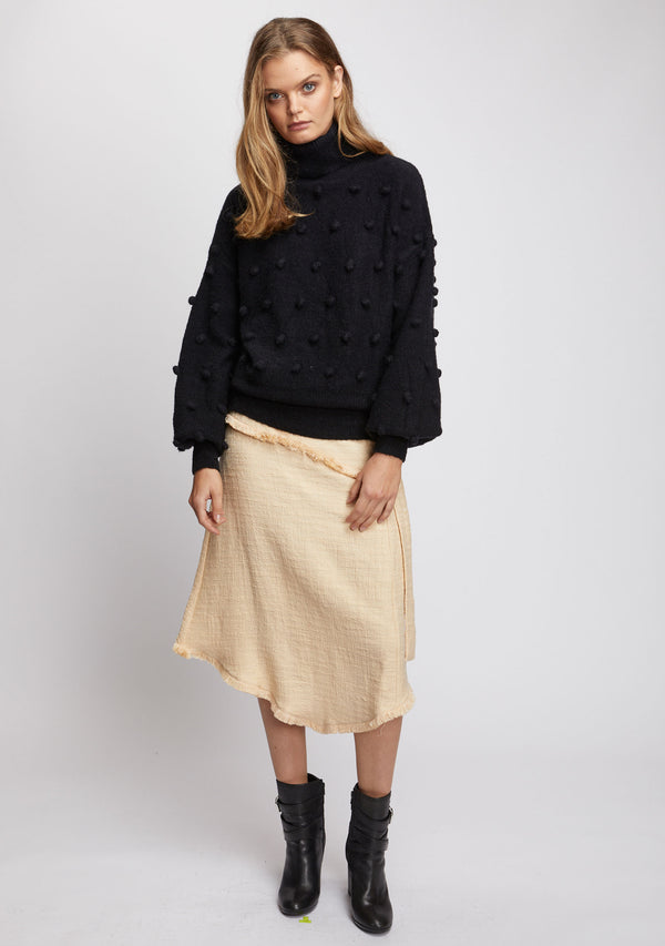 Josette Knit Sweater Black Front