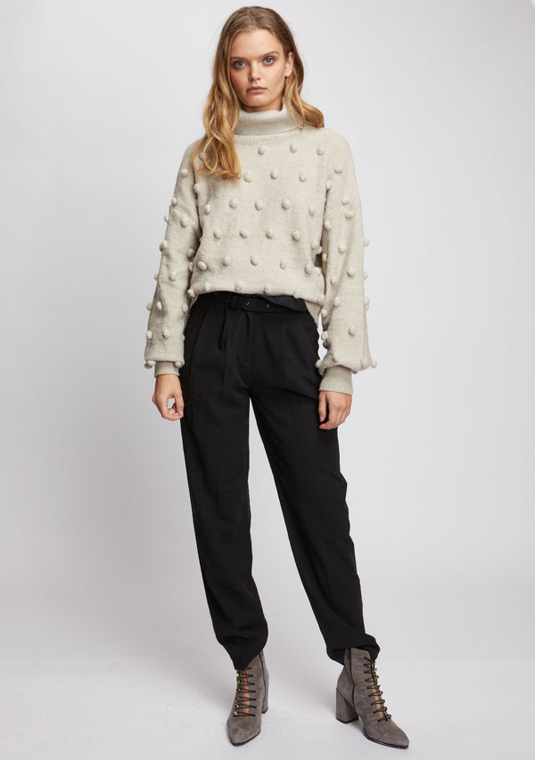 Josette Knit Sweater Natural Front