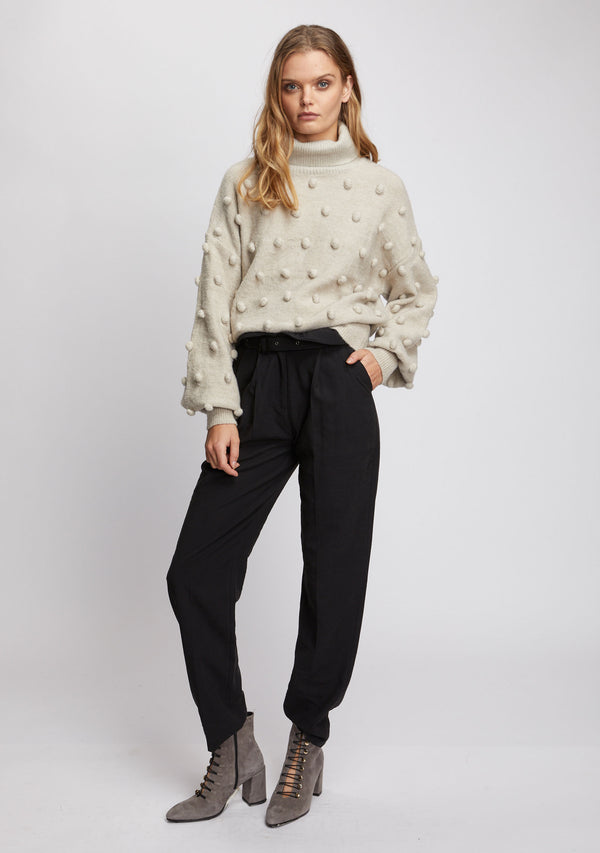 Josette Knit Sweater Natural Side